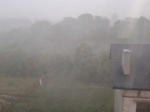 Burza, przez którą musiałem się spieszyć i nie zrobiłem zdjęć zbrojenia i zalewania :)