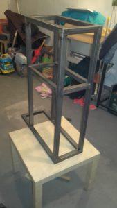 Konstrukcja wózka po spawaniu